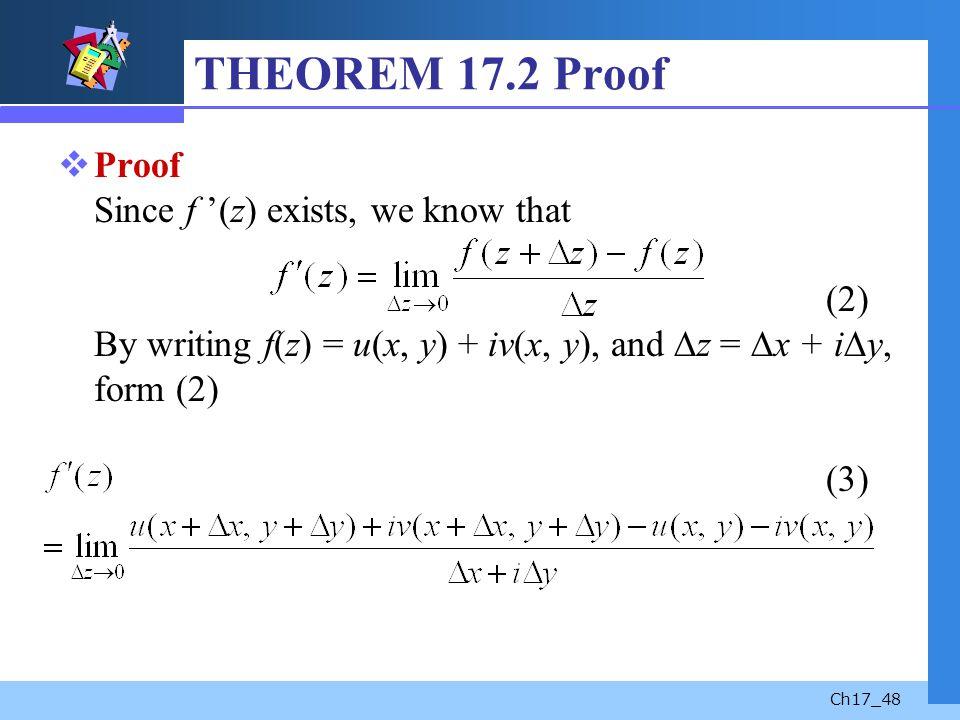 THEOREM 17.2 Proof