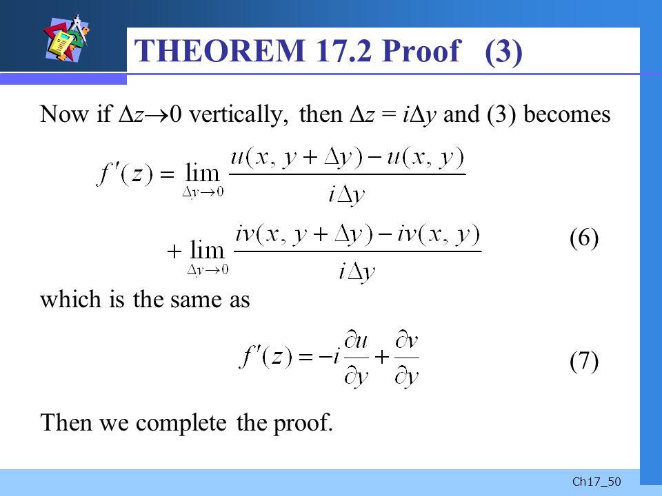 THEOREM 17.2 Proof (3)