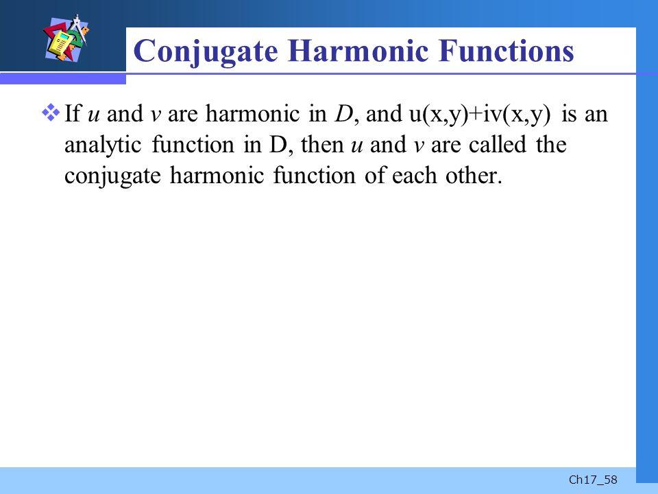 Conjugate Harmonic Functions