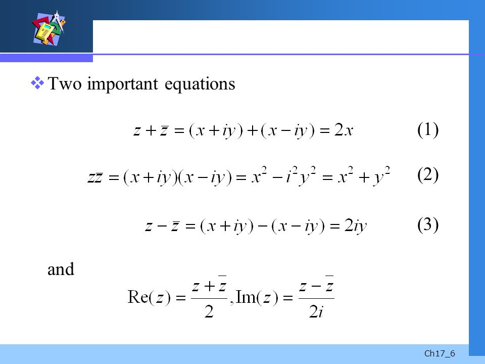 Two important equations (1) (2)