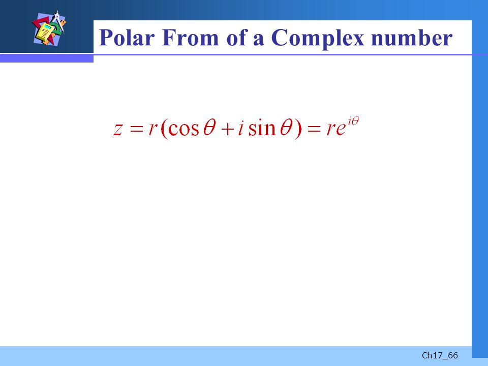 Polar From of a Complex number