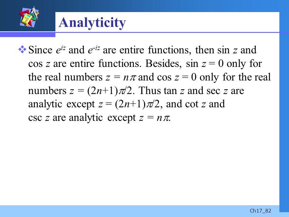 Analyticity