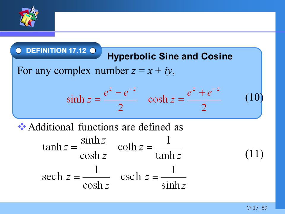 For any complex number z = x + iy, (10)