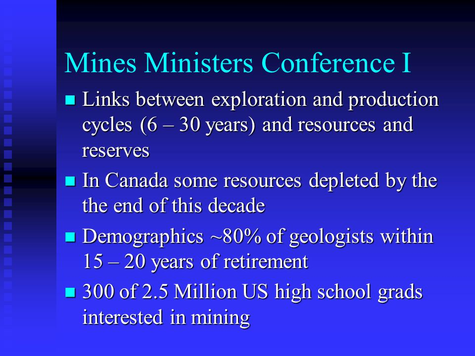 Mines Ministers Conference I