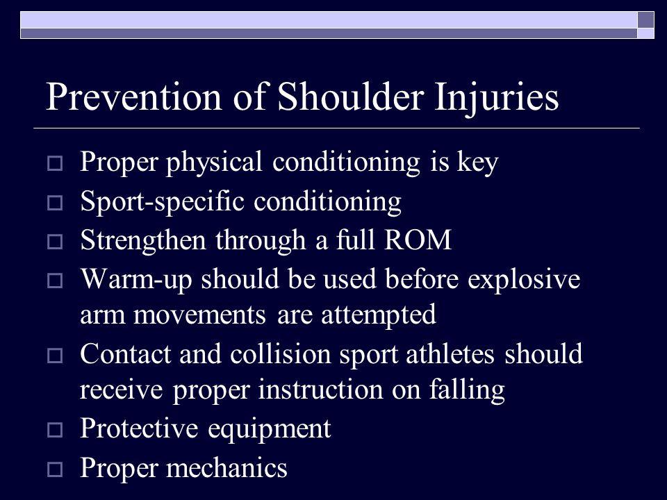 Prevention of Shoulder Injuries