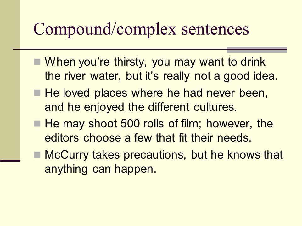 Compound/complex sentences