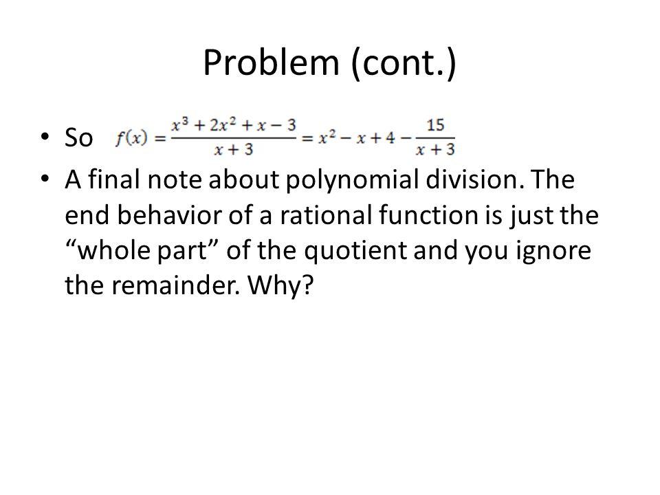 Problem (cont.) So.