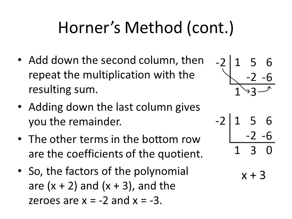 Horner's Method (cont.)