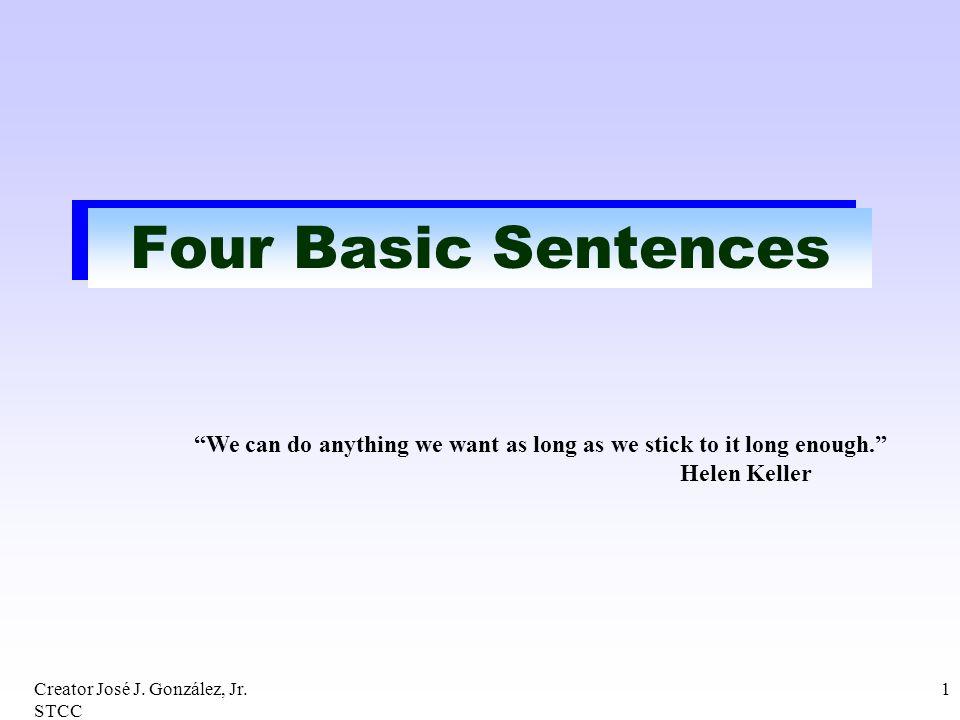 Four Basic Sentences