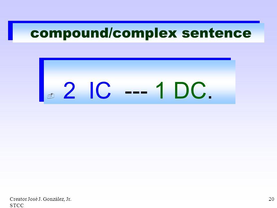 compound/complex sentence