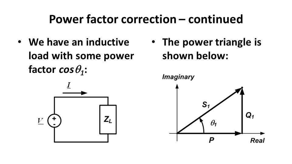 Power factor correction – continued