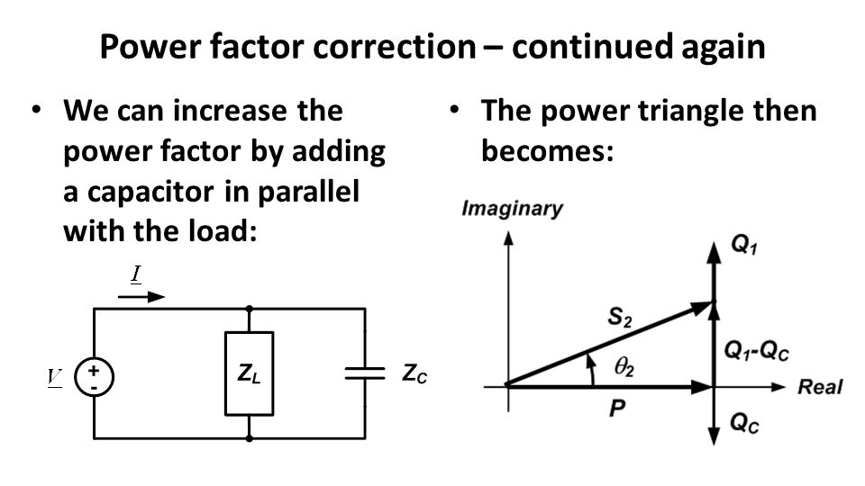Power factor correction – continued again