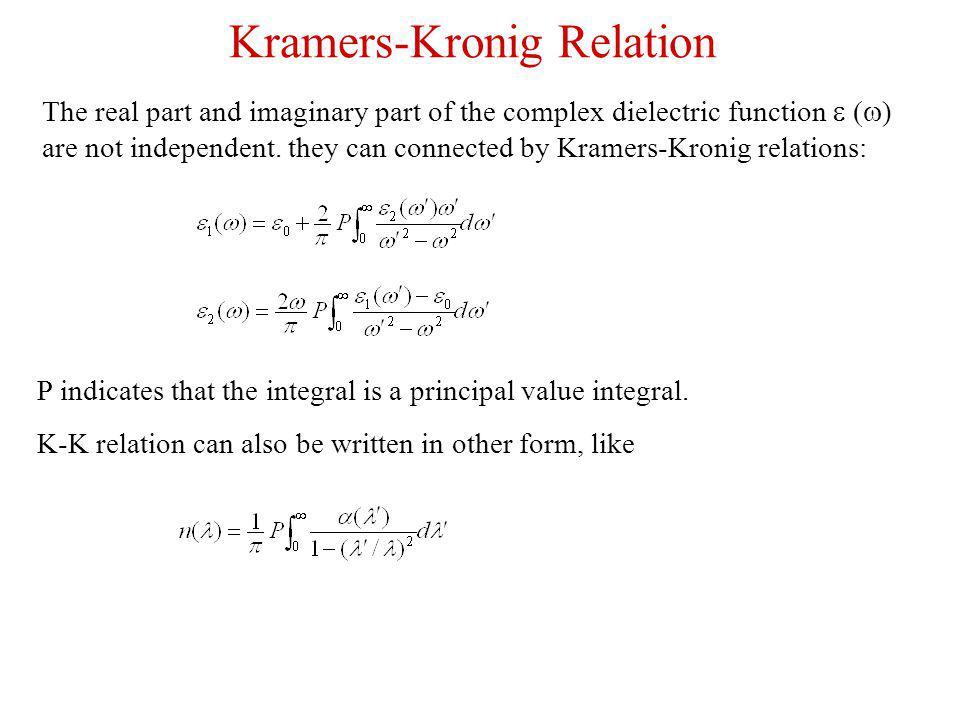 Kramers-Kronig Relation