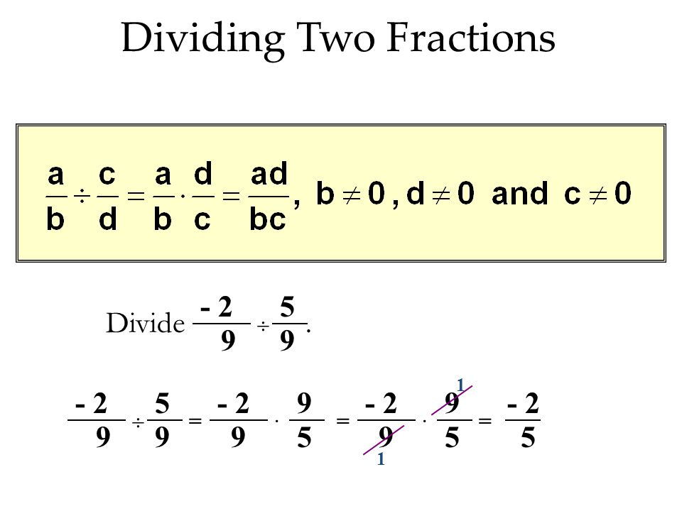 Dividing Two Fractions