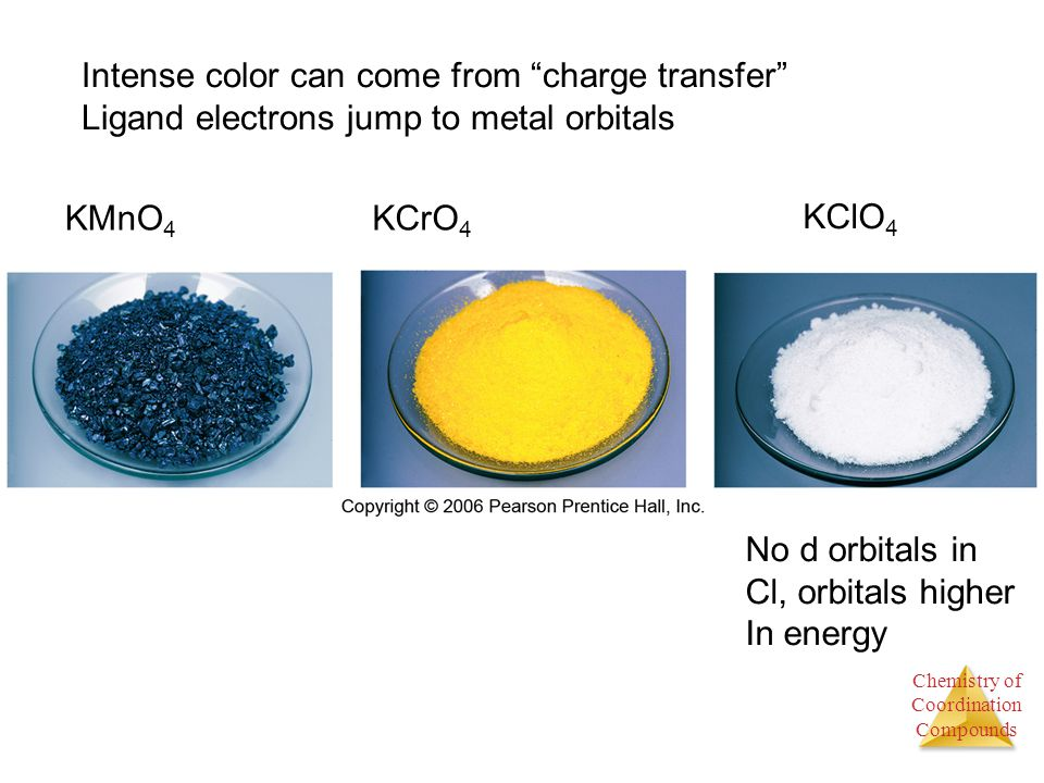 Intense color can come from charge transfer