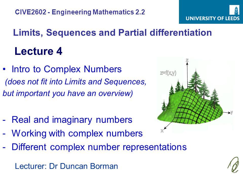 CIVE2602 - Engineering Mathematics 2.2