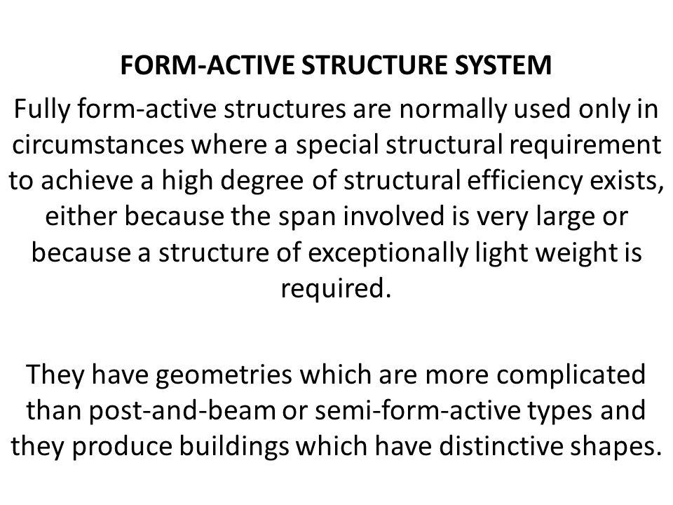 Form-active structure SYSTEM
