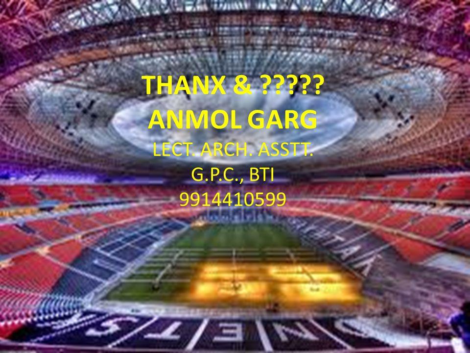 THANX & ANMOL GARG LECT. ARCH. ASSTT. G.P.C., BTI 9914410599