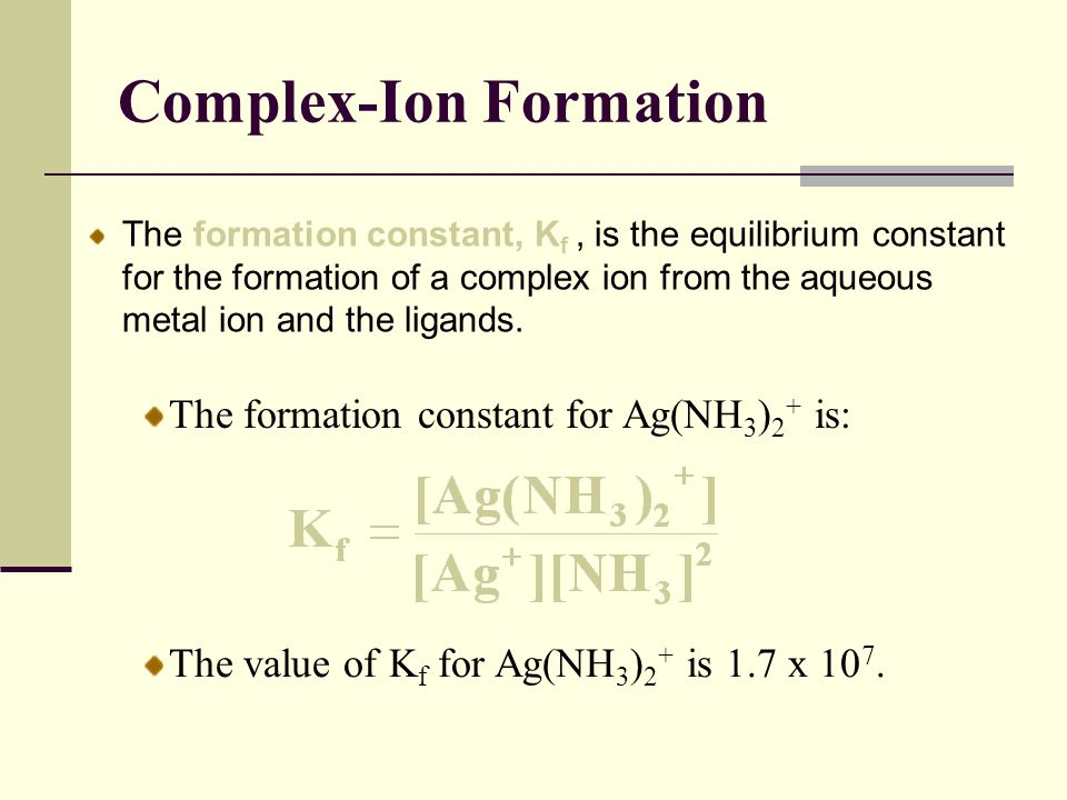 Complex-Ion Formation