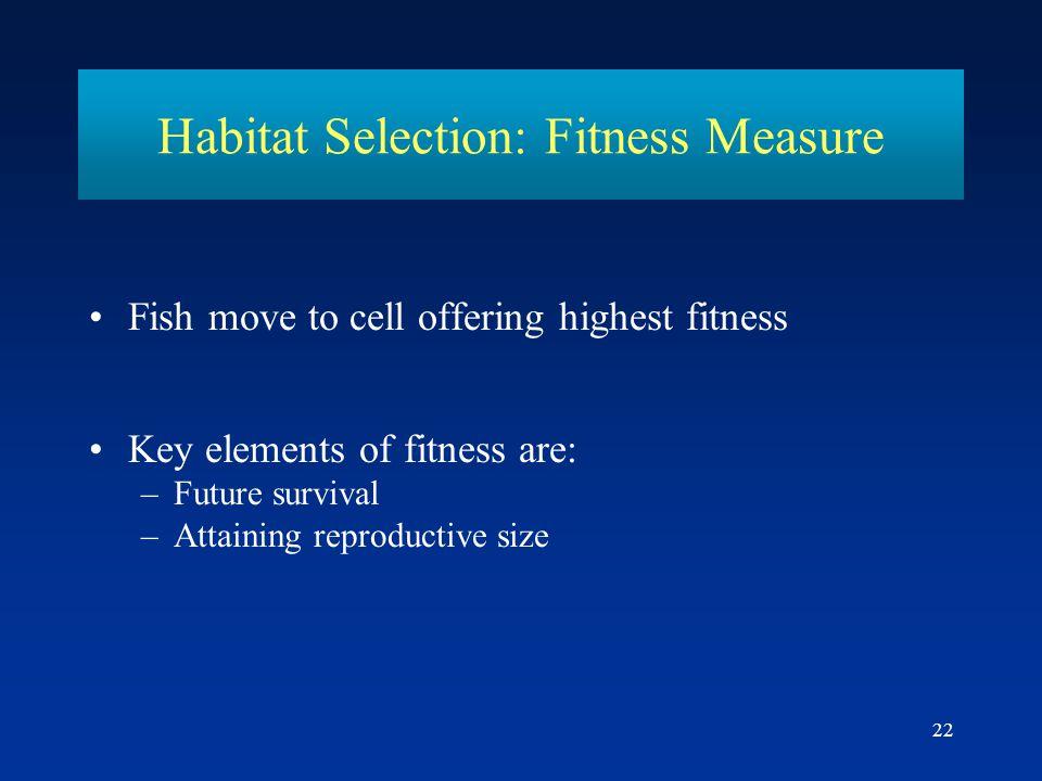 Habitat Selection: Fitness Measure