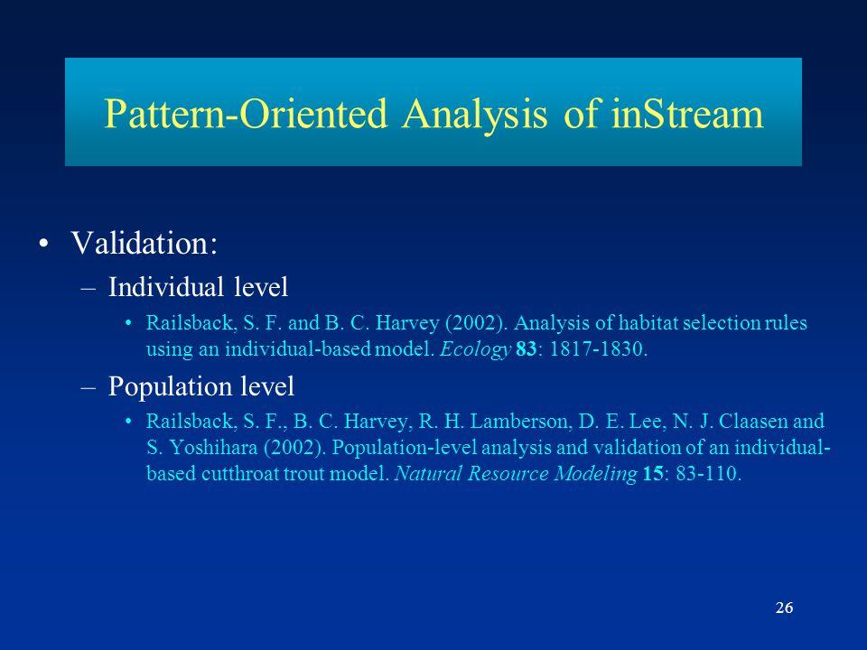 Pattern-Oriented Analysis of inStream