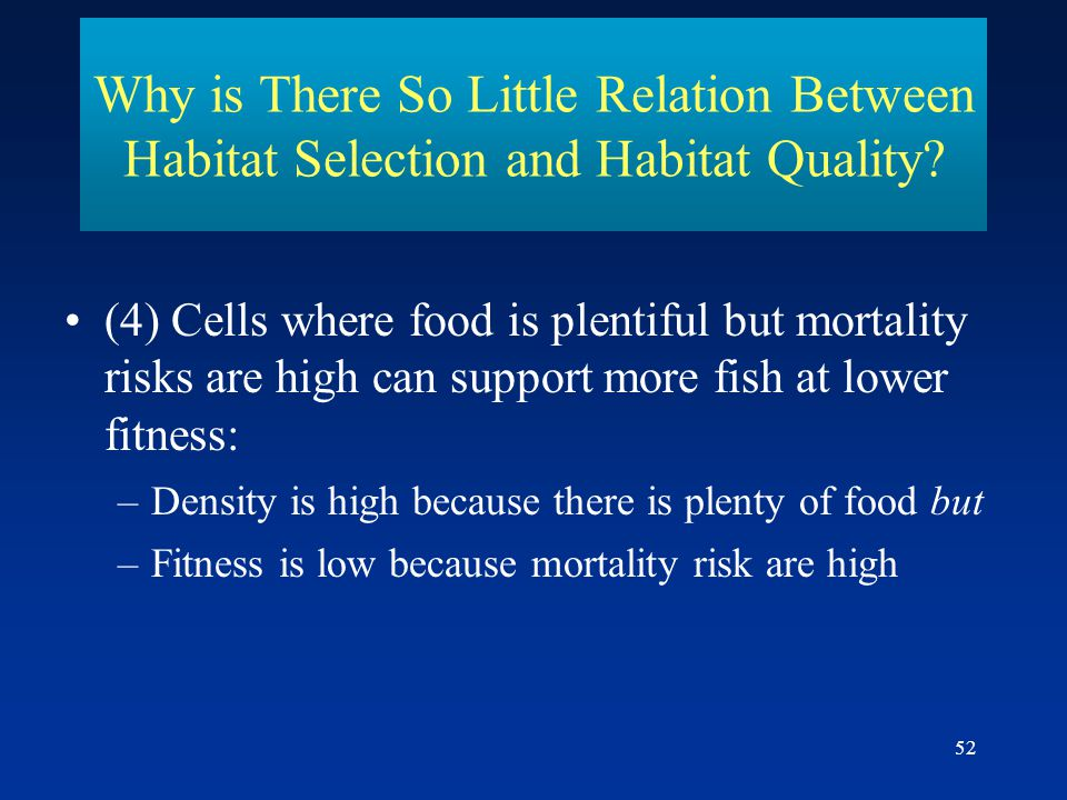Why is There So Little Relation Between Habitat Selection and Habitat Quality