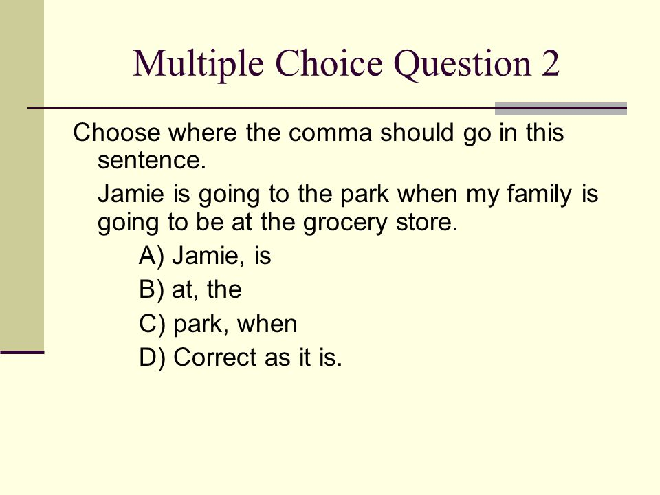 Multiple Choice Question 2