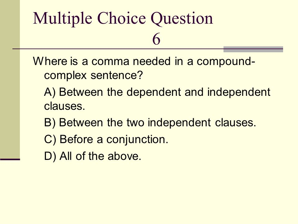Multiple Choice Question 6