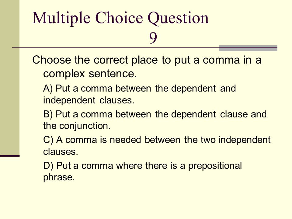 Multiple Choice Question 9