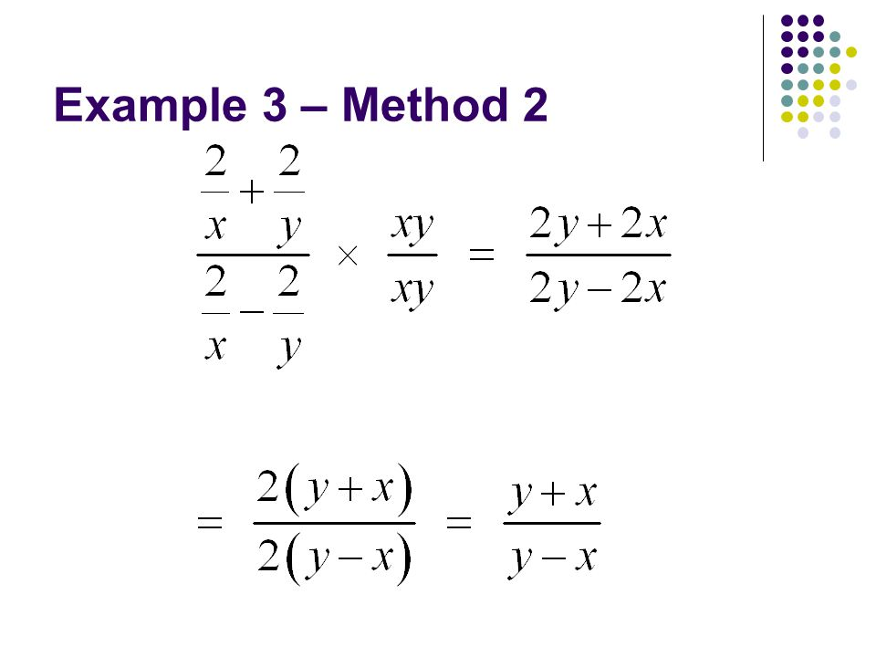 Example 3 – Method 2