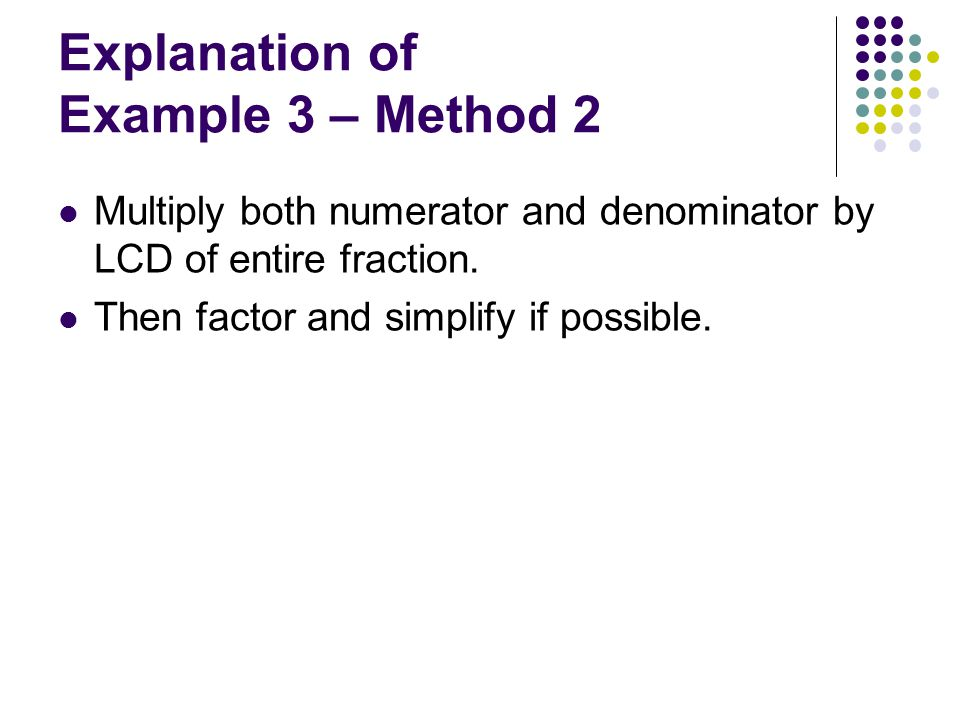 Explanation of Example 3 – Method 2