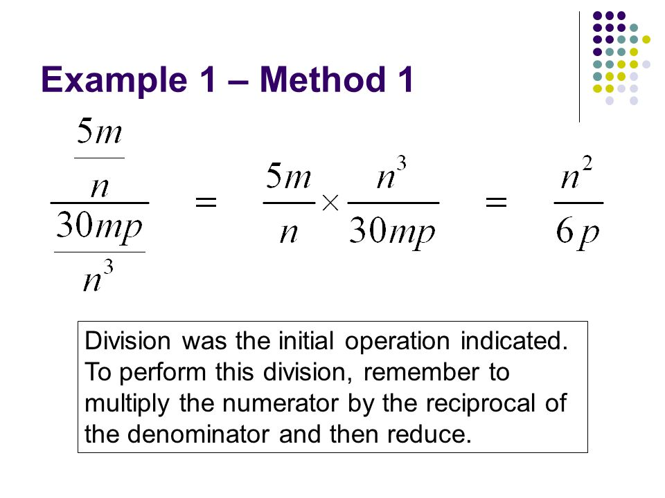 Example 1 – Method 1