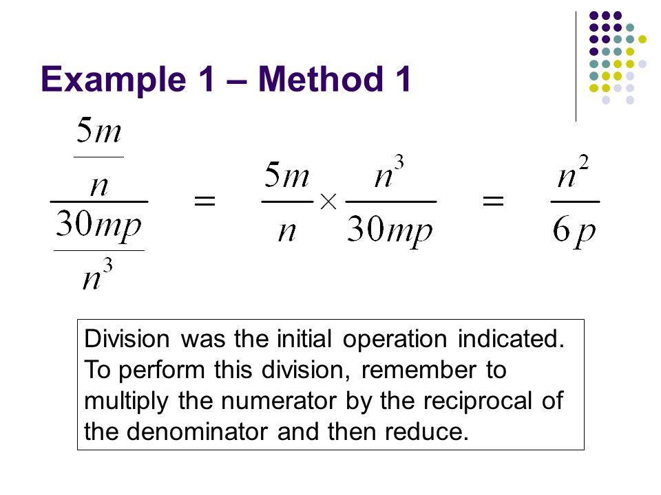 Example 1 – Method 1