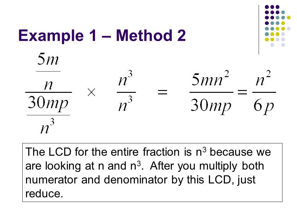Example 1 – Method 2