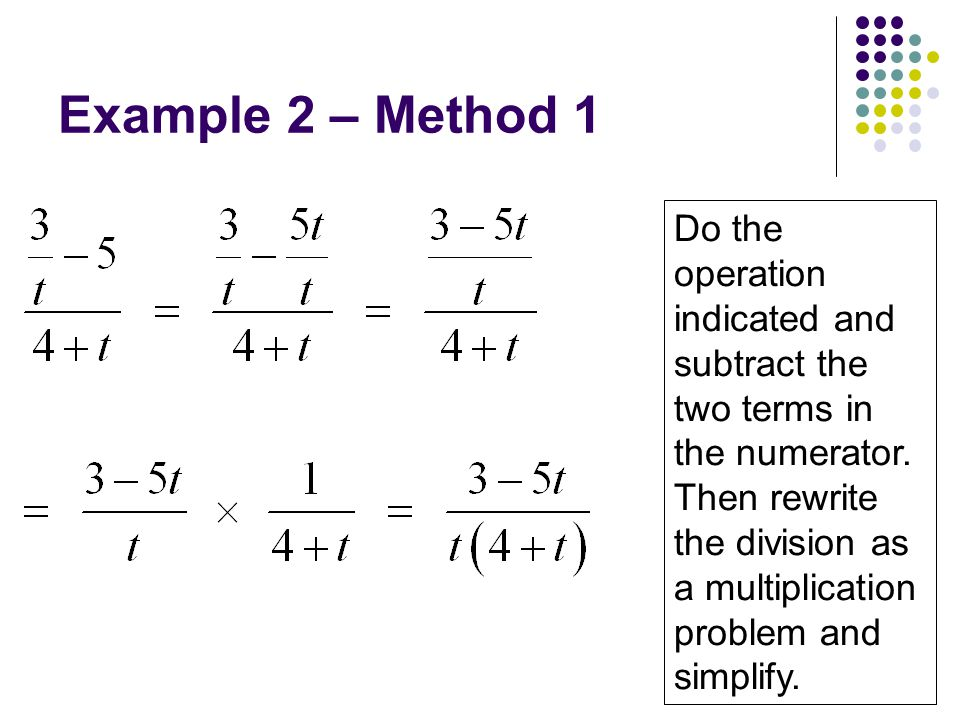 Example 2 – Method 1