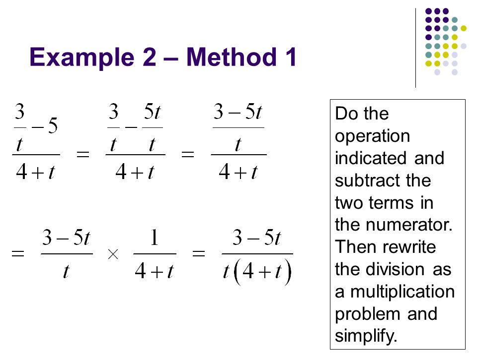 Example 2 – Method 1