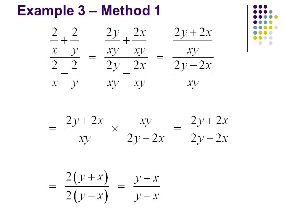 Example 3 – Method 1