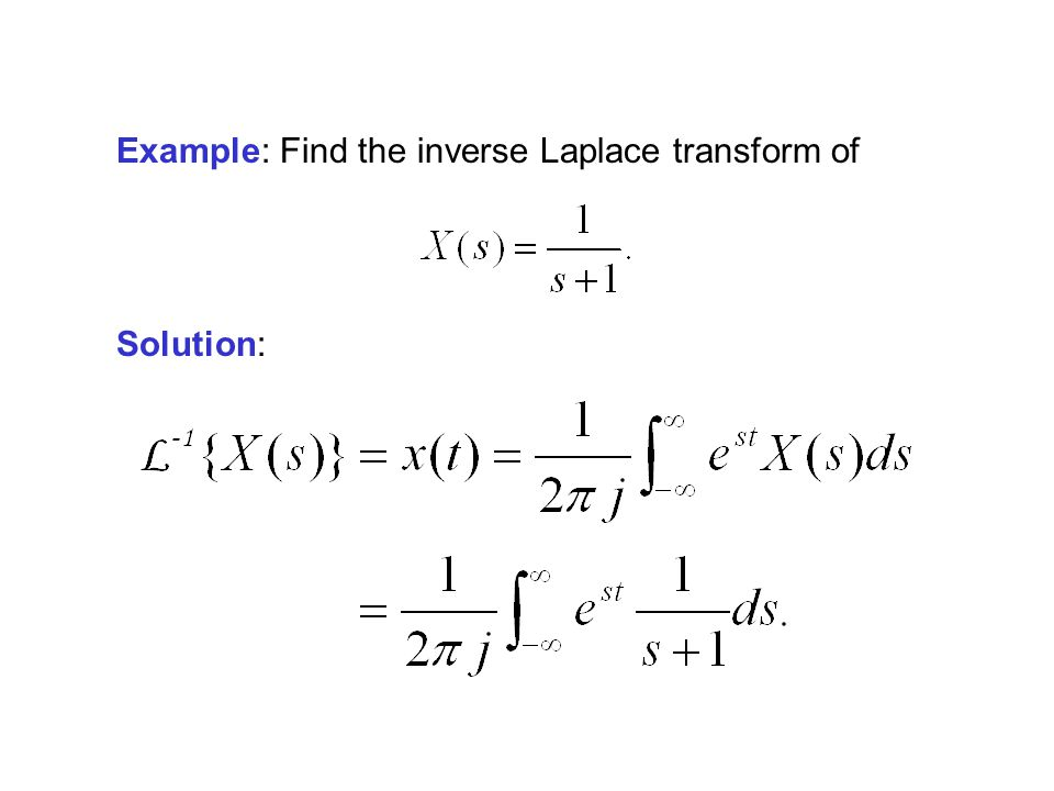 Example: Find the inverse Laplace transform of