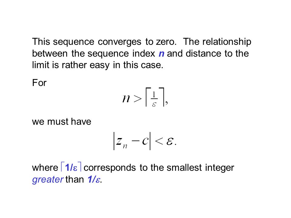 This sequence converges to zero