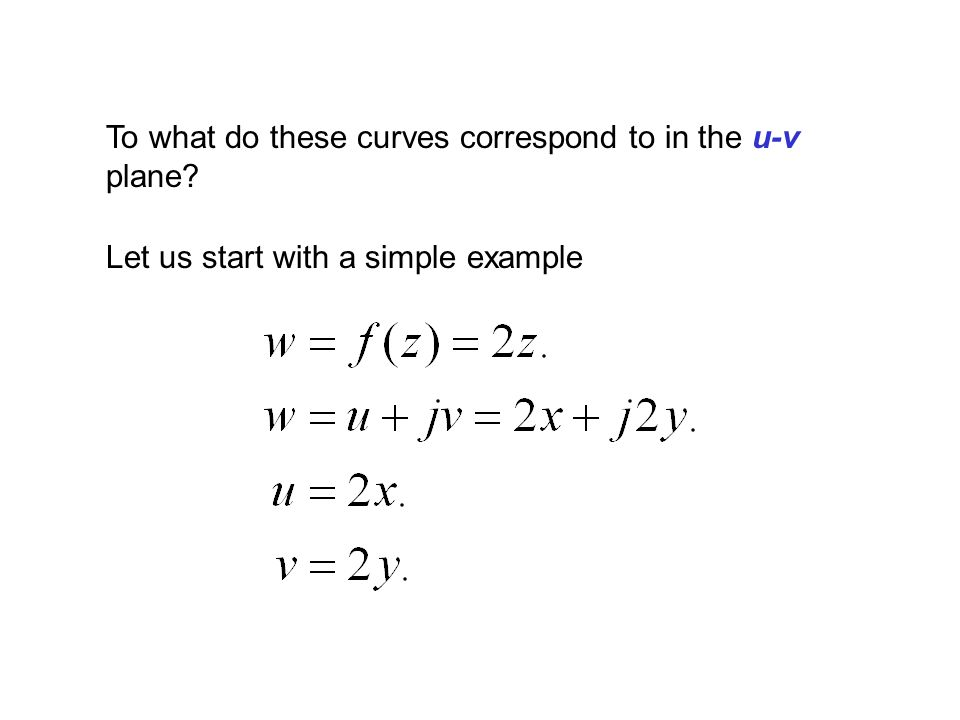 To what do these curves correspond to in the u-v plane