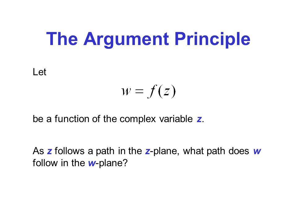 The Argument Principle