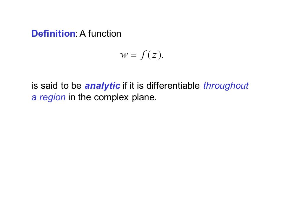 Definition: A function