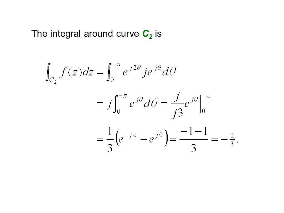 The integral around curve C2 is