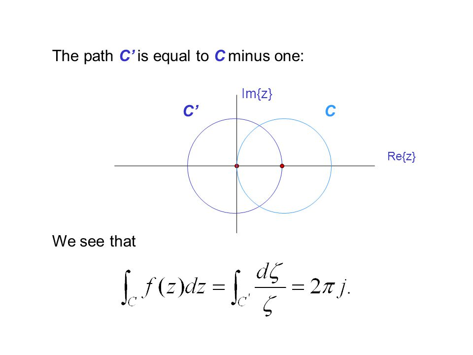 The path C' is equal to C minus one: