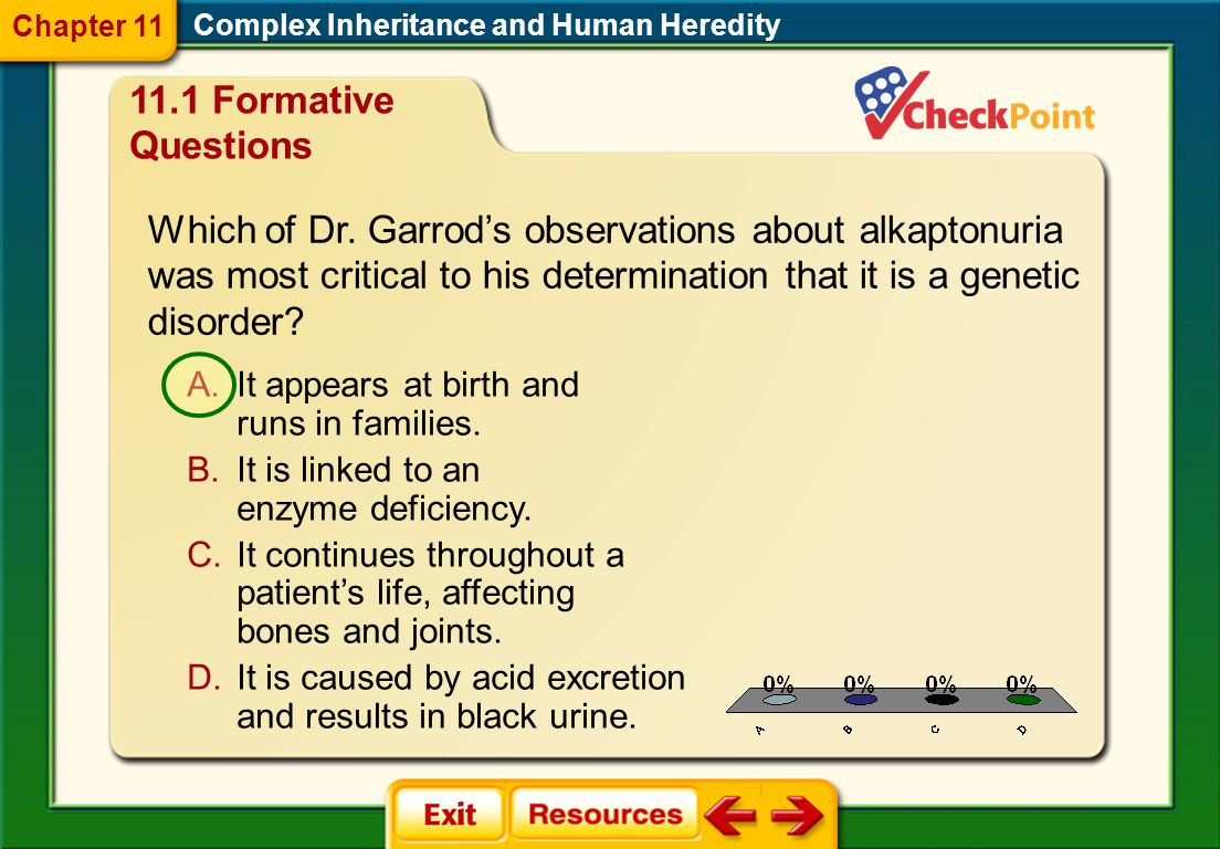 Chapter 11 Complex Inheritance and Human Heredity. 11.1 Formative Questions.