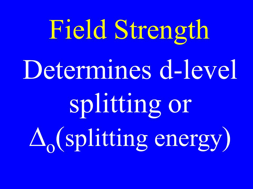Determines d-level splitting or Do(splitting energy)