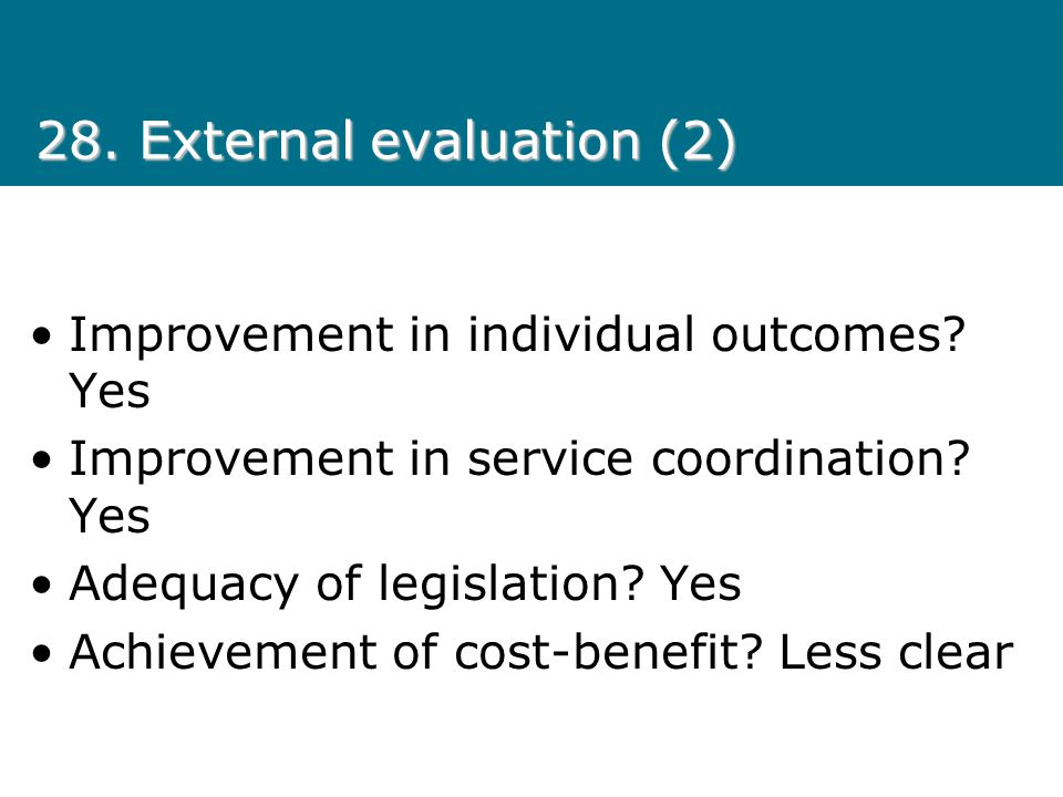 28. External evaluation (2)