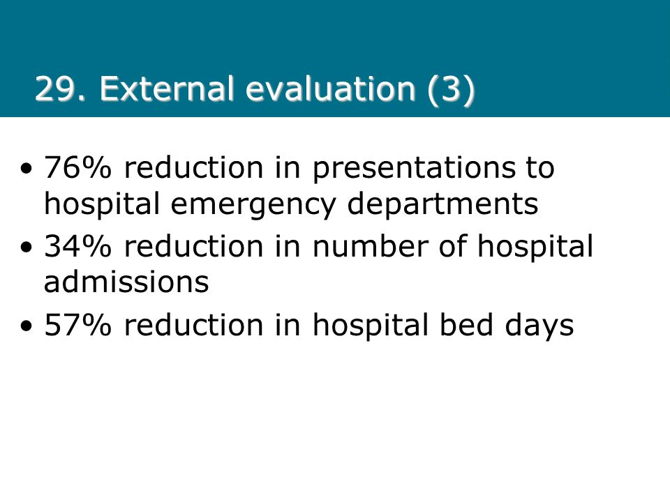 29. External evaluation (3)