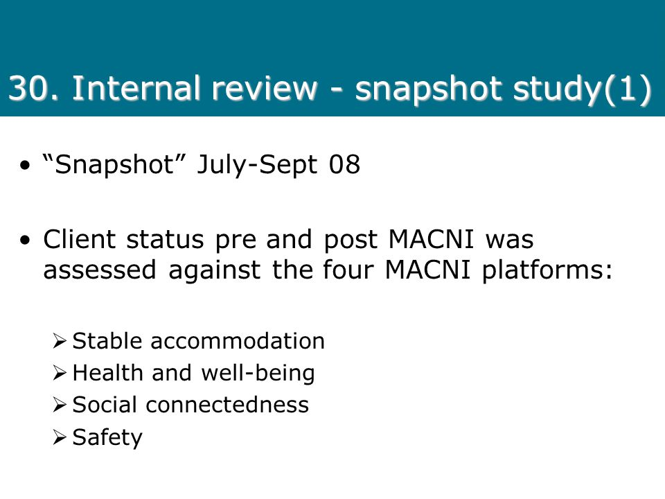 30. Internal review - snapshot study(1)