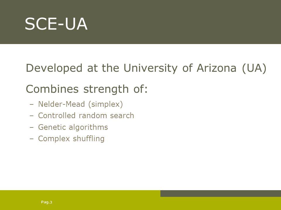 SCE-UA Developed at the University of Arizona (UA)
